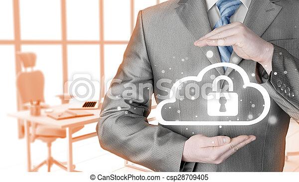 information, protéger, concept., computing., sécurité, sécurité, données, nuage - csp28709405