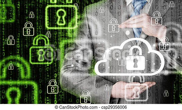 information, protéger, concept., computing., sécurité, sécurité, données, nuage - csp29356006