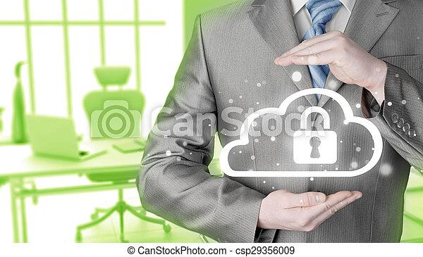 information, protéger, concept., computing., sécurité, sécurité, données, nuage - csp29356009