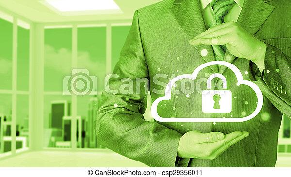 information, protéger, concept., computing., sécurité, sécurité, données, nuage - csp29356011
