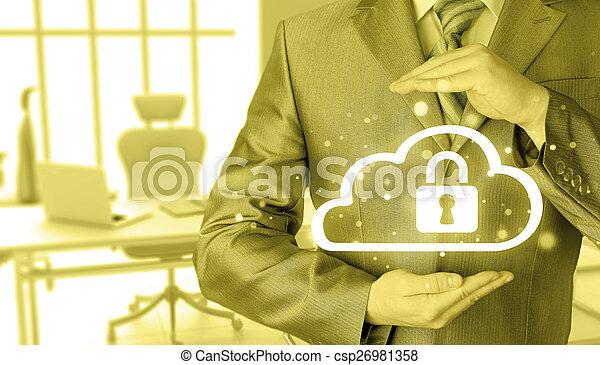 information, protéger, concept., computing., sécurité, sécurité, données, nuage - csp26981358