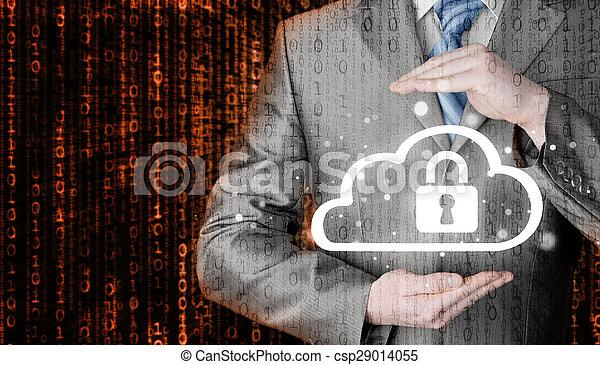 information, protéger, concept., computing., sécurité, sécurité, données, nuage - csp29014055