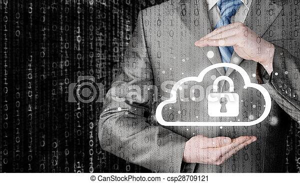 information, protéger, concept., computing., sécurité, sécurité, données, nuage - csp28709121