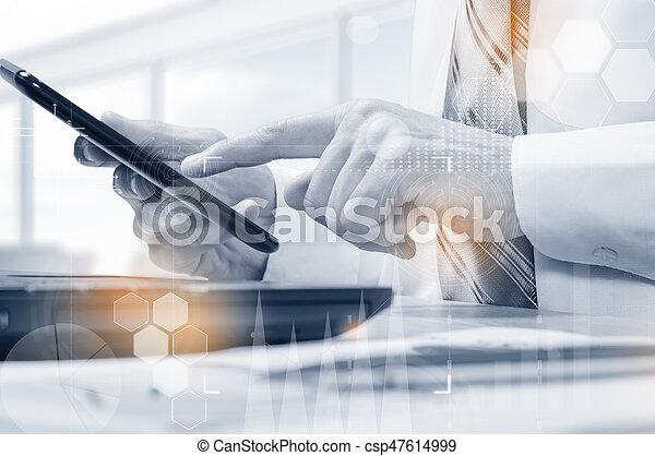 information, protéger, concept., sécurité, sécurité, données, nuage - csp47614999
