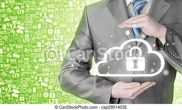 information, protéger, concept., computing., sécurité, sécurité, données, nuage - csp29014035