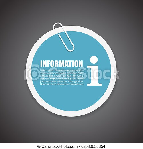 Information sticker - csp30858354