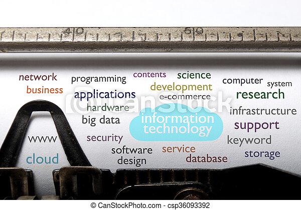 Information technology cloud - csp36093392
