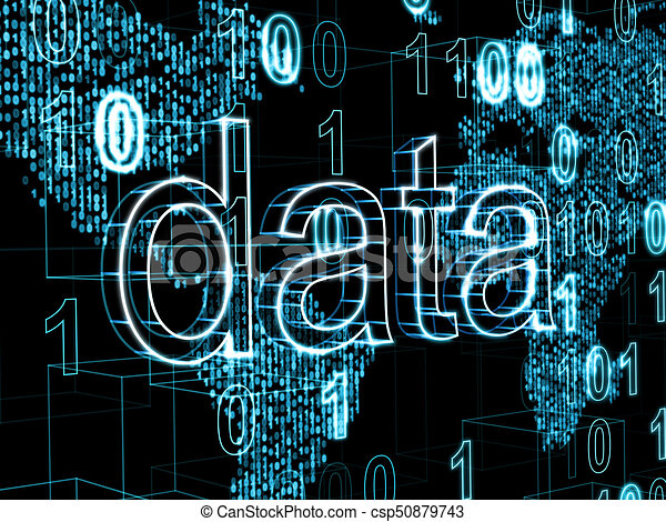Information technology concept word data on digital world map information technology concept word data on digital world map background csp50879743 gumiabroncs Images