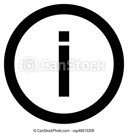 Information the black color icon . - csp48515309