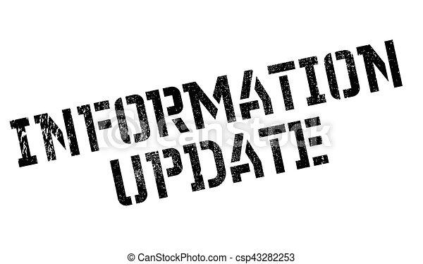 Information Update rubber stamp - csp43282253