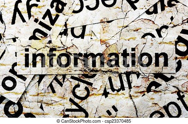 Information word cloud - csp23370485