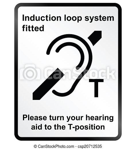 Informationen, induktion, schleife, einrichtung. Informationen ...