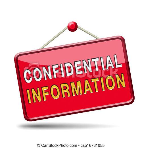 informationen, vertraulich - csp16781055