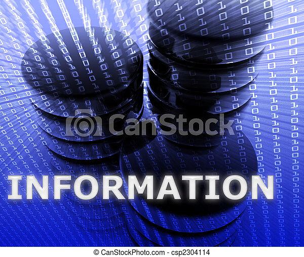 informationsspeicherung, daten - csp2304114