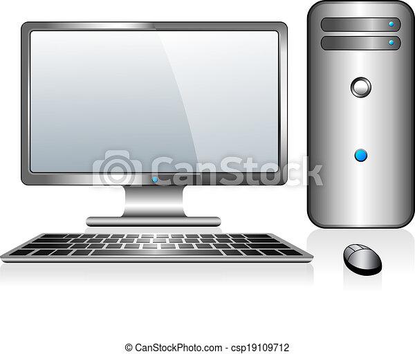 informatique, bureau - csp19109712