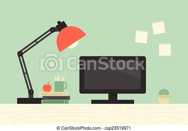 informatique, bureau - csp23519971