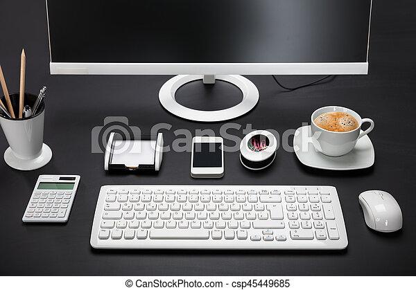informatique, bureau - csp45449685