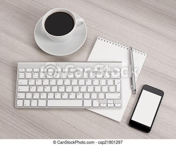 informatique, bureau - csp21801297