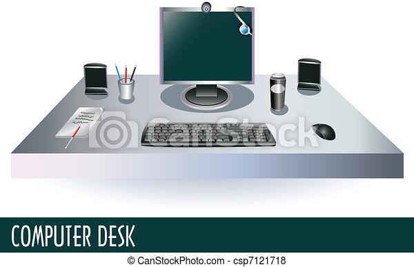 informatique, bureau - csp7121718