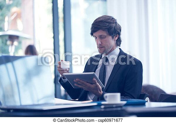 informatique, business, tablette, homme - csp60971677