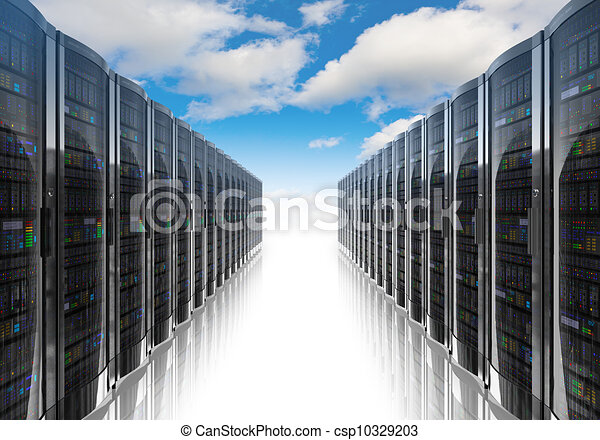 informatique, concept, gestion réseau, nuage, calculer - csp10329203