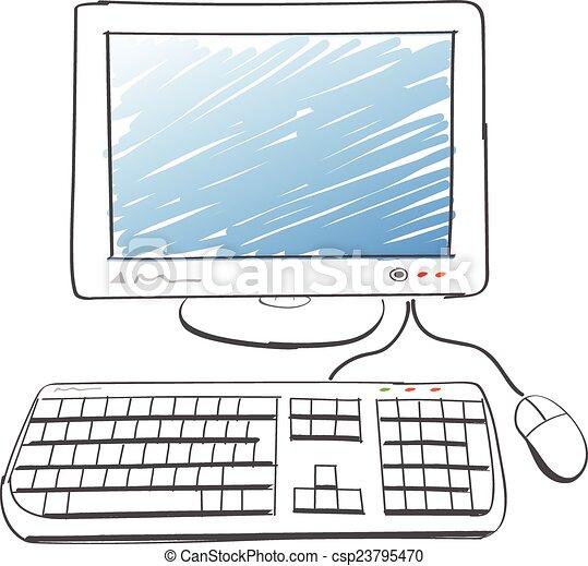 informatique, dessin - csp23795470