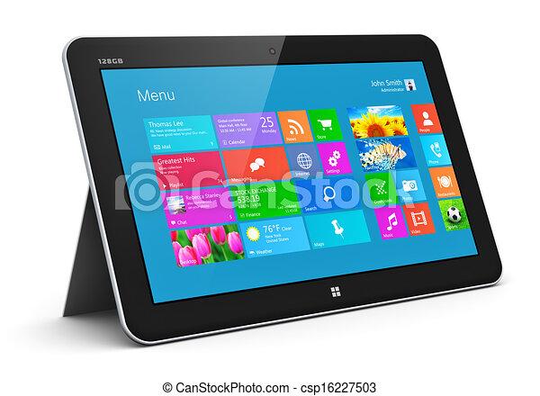 informatique, tablette - csp16227503