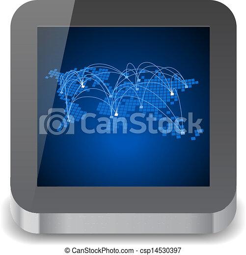informatique, tablette, icône - csp14530397