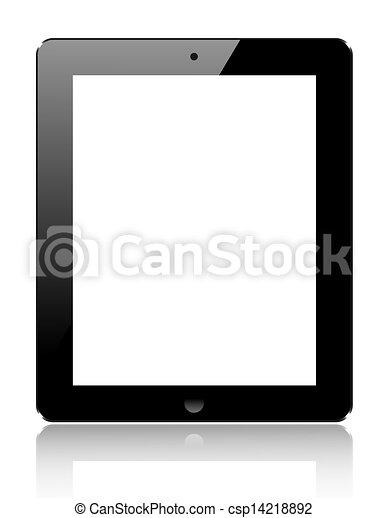 informatique, tablette, réaliste, isolé, arrière-plan., vecteur, eps10, blanc - csp14218892