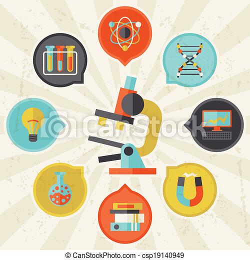 informazioni, appartamento, concetto, scienza, disegno, style. - csp19140949
