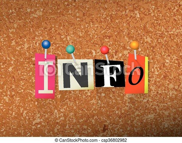 Informazioni appuntato concetto carta illustrazione for Aprire i piani casa artigiano concetto