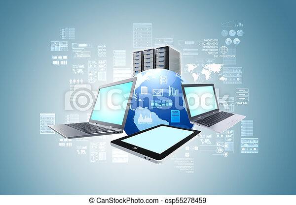 informazioni, concetto, tecnologia, internet - csp55278459