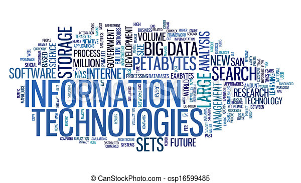 informazioni, etichetta, tecnologia, nuvola - csp16599485