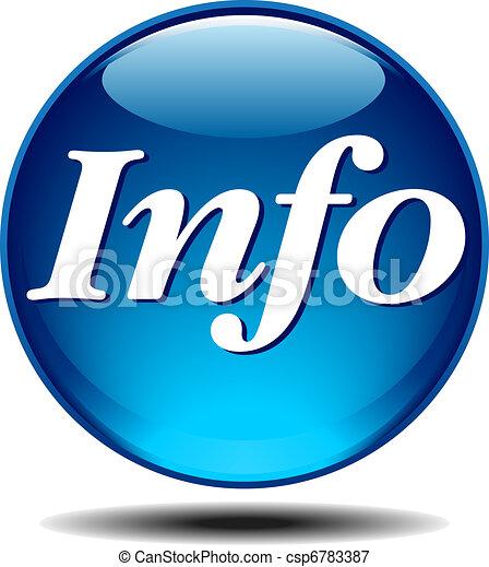 informazioni, icona - csp6783387