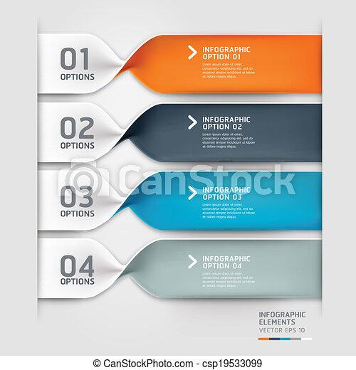 informazioni, options., grafico, moderno, spirale - csp19533099