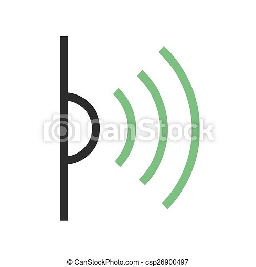 Infrared Red Light Signals Icon Vector Image Can Also Be Used