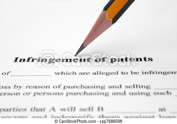 Infringement of patents - csp7686598
