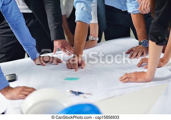 ingénieurs, réunion, professionnels - csp15856933
