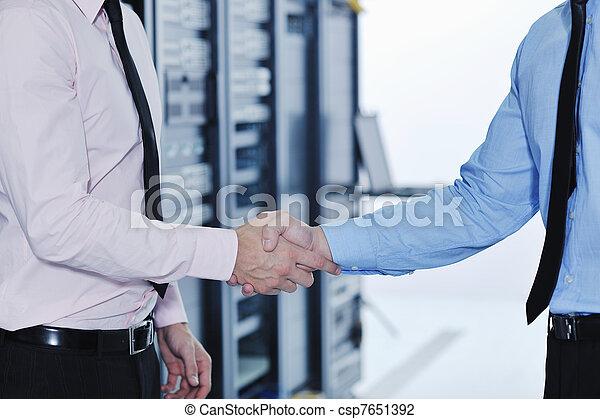ingénieurs, salle serveur, réseau, il - csp7651392