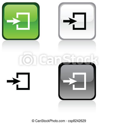 ingang, button. - csp8242629