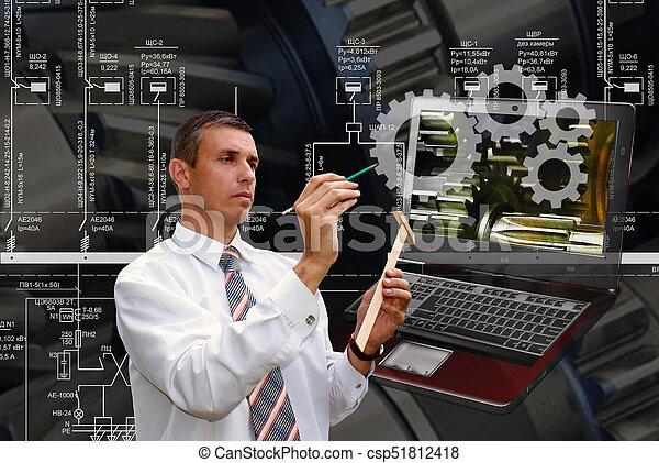 ingeniería, industrial, software - csp51812418