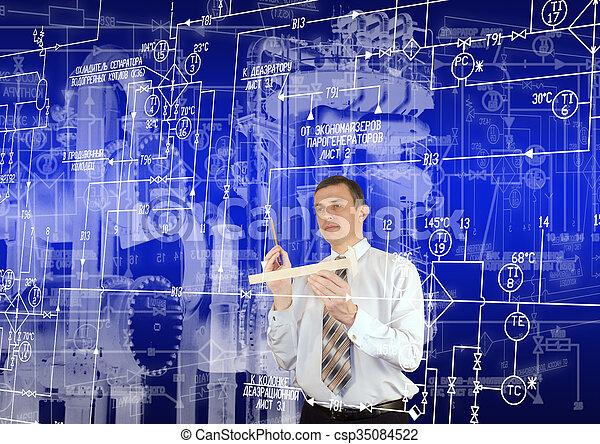 ingeniería, industrial, tecnología - csp35084522