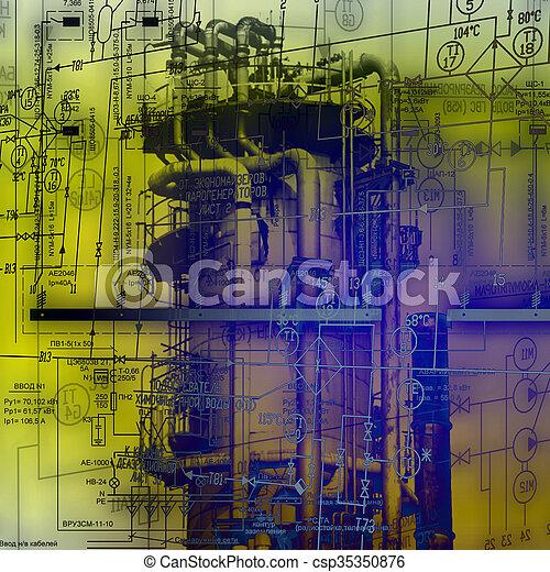 ingeniería, industrial, tecnología - csp35350876