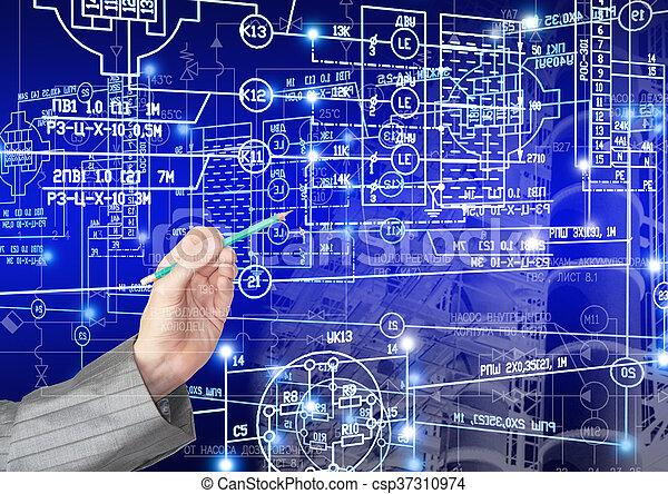 ingeniería, industrial, tecnología - csp37310974