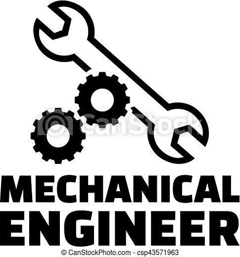 Ingeniero mecánico con ruedas y llave inglesa - csp43571963