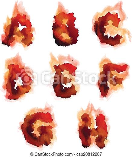 El alfabeto en llamas inglés - csp20812207