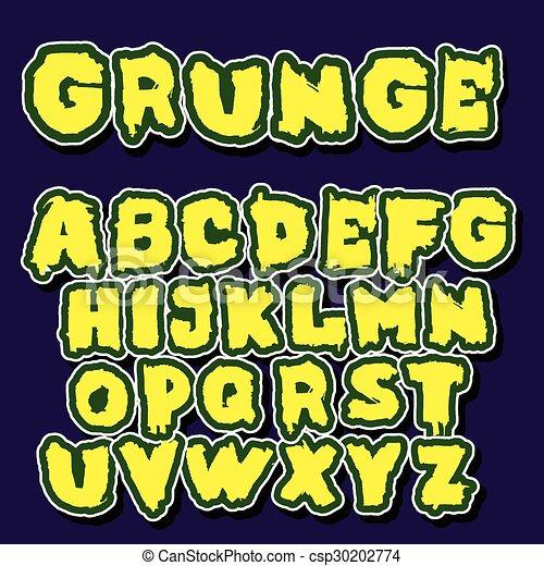 El alfabeto inglés al estilo graffiti - csp30202774