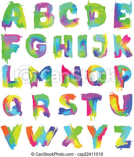El alfabeto pintado en inglés - csp22411019