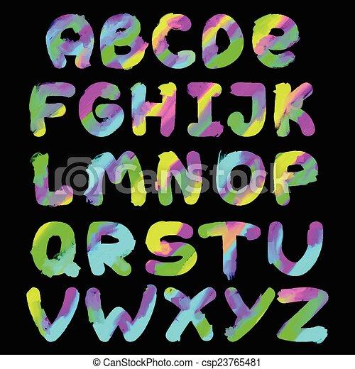 El alfabeto pintado en inglés - csp23765481