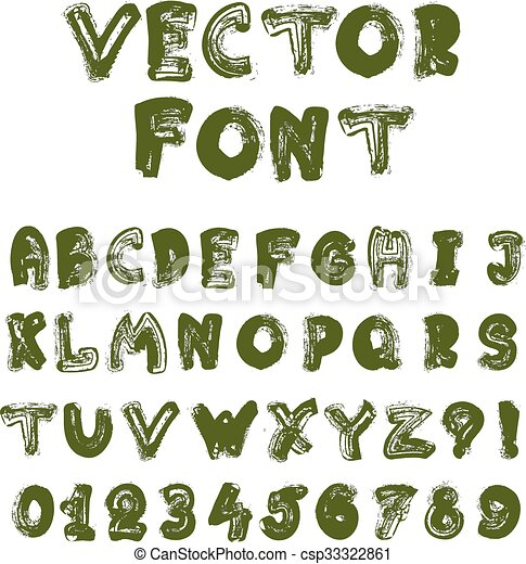 El alfabeto inglés Vector - csp33322861